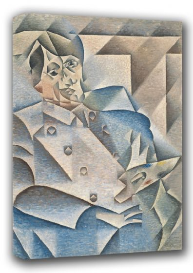 Gris, Juan: Portrait of Pablo Picasso. Fine Art Canvas. Sizes: A4/A3/A2/A1 (001202)